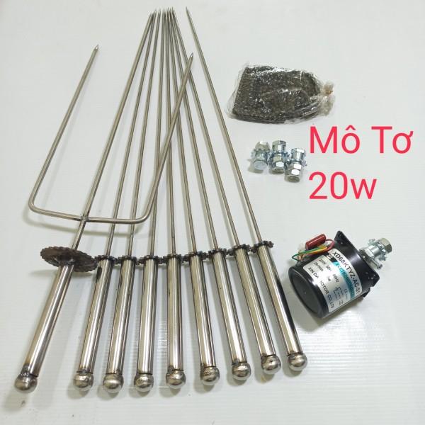 Mô tơ giảm tốc 220v 20W + bộ chế máy nướng tự động 9 xiên