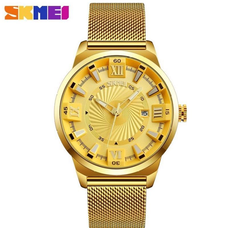 Đồng hồ nam cao cấp SKMEI dây thép lưới sang trọng, phong cách doanh nhân