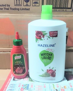 sữa tắm hazeline matcha lựu đỏ chai 1.2kg tặng tương ớt knoor 220g thumbnail