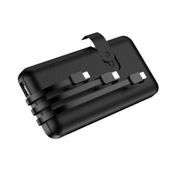 Giá Sạc dự phòng 10000mah có Led báo Pin tích sẵn 3 cổng sạc Lighting, Micro USB, TypeC và 1 cổng USB 8 Bảo hành 6 tháng