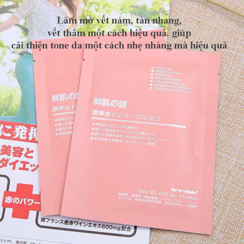 Combo 10  Mặt Nạ Tế Bào Gốc Nhau Thai Nhật Bản- Bachhoaxanh888-Mặt Nạ Nhau Thai Dưỡng Da, Mặt Nạ Cung Cấp Nước Khóa Ẩm Cho Da, Tái Tạo Làn Da giá rẻ