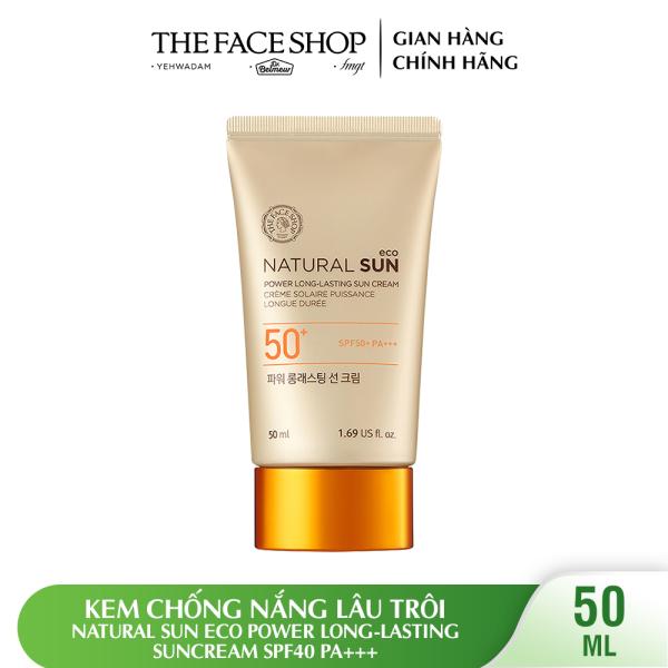 Kem Chống Nắng Lâu Trôi THEFACESHOP Natural Sun Eco Power Long-lasting Suncream SPF50 PA+++ 50ml