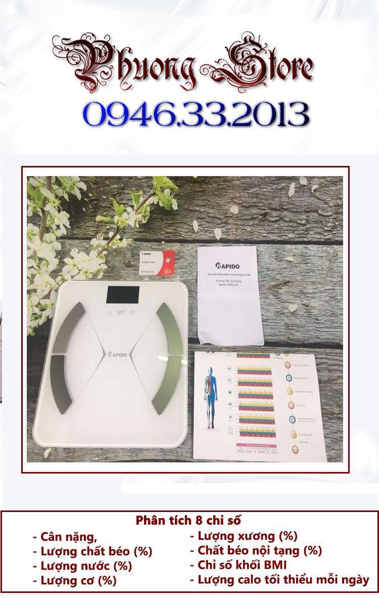 Cân sức khỏe phân tích chỉ số cơ thể Rapido RSF01-S - Phương Athena