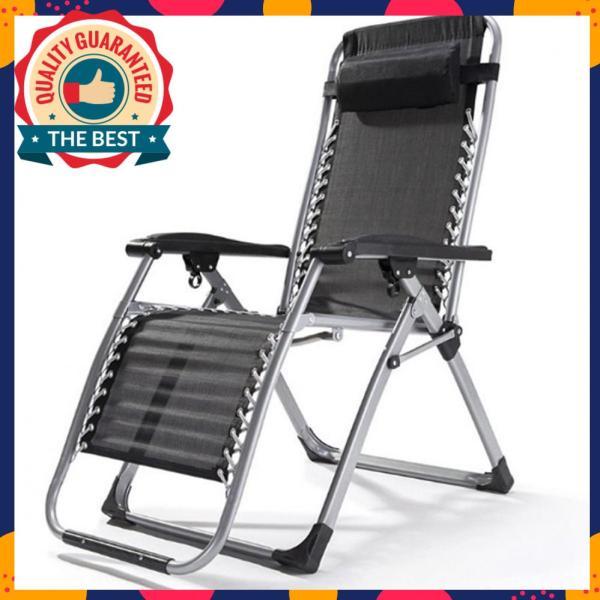 Ghế xếp thư giãn thông minh, ghế bố, ghế ngủ văn phòng K171 – Màu đen giá rẻ