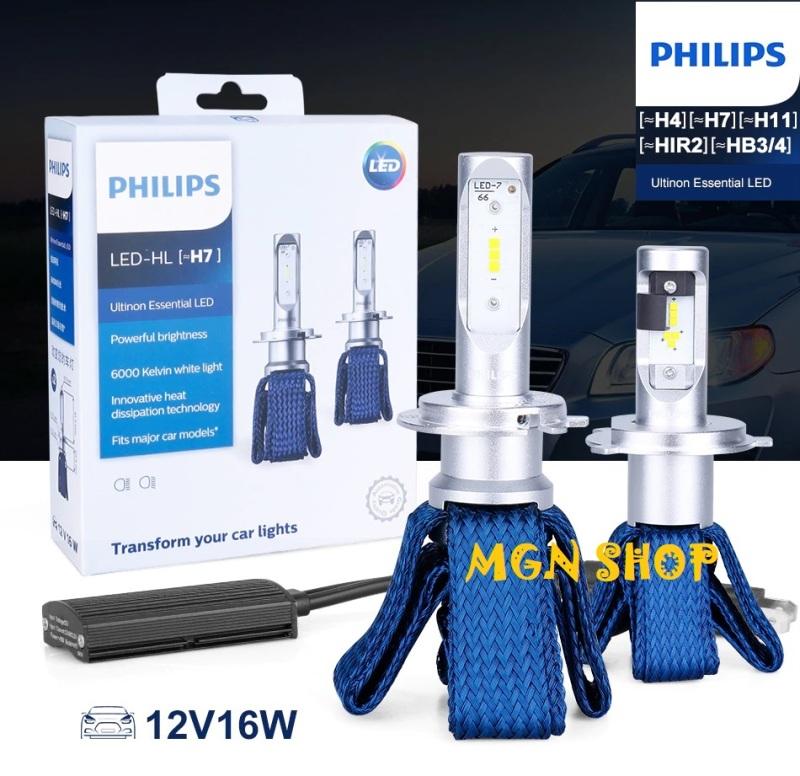 Đèn Philips Ultinon Essential LED [H4 H7 H8/H11/H16 HB3/HB4 HIR2] [02 bóng/bộ] dành cho ô tô xe máy 6000K