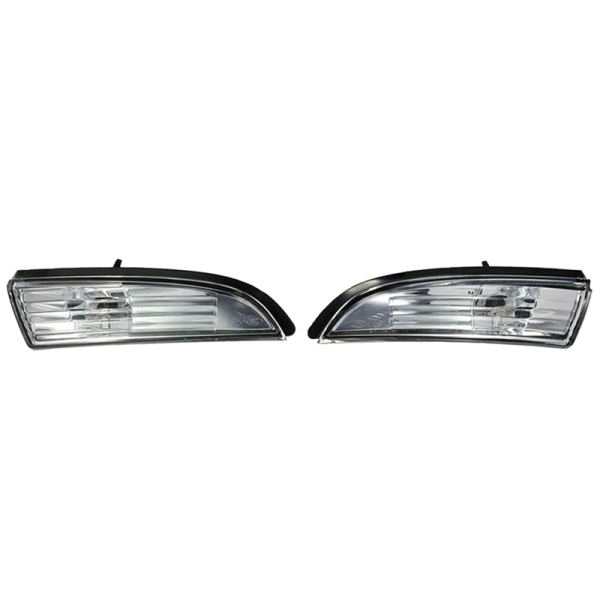 1Pair Car Mirror Turn Signal Lights Door Wing Mirror Indicator Cover Light Repeater Housing for Ford Fiesta Mk8 2008-2016 Without Bulb