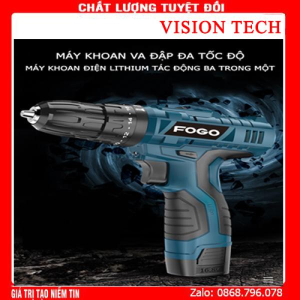 Máy khoan FOGO pin 12V , máy khoan đa năng, máy khoan bắn vit, máy khoan cầm tay, bộ máy khoan sửa chữa vặn vít FOGO 12V có đảo chiều máy khoan pin -  khoan pin - máy bắn vít - may khoan pin gia re - khoan cầm tay có lựa chọn 1 hoặc 2 pin
