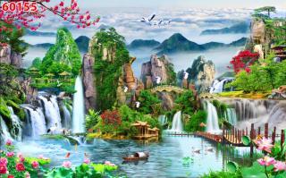 Tranh dán tường 3D Phòng Khách, Thiên Nhiên Giao Hòa, 182 thumbnail