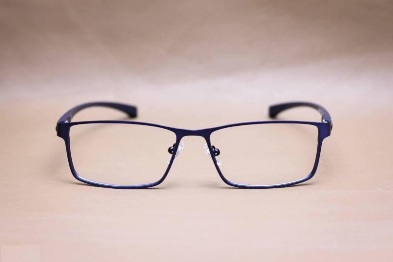Giá bán Gọng kính kim loại chữ nhật  Nam - Nữ màu xanh dương