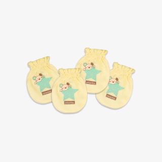 Set 2 đôi Bao tay bèo Ngôi Sao vàng - Miomio - Dành cho bé từ 0-24 tháng