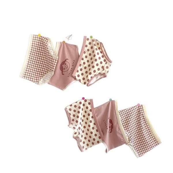 Giá bán Quần lót bé gái combo 3 quần chip trẻ em cotton thoáng mát khoáng khuẩn cho bé từ 10-45kg