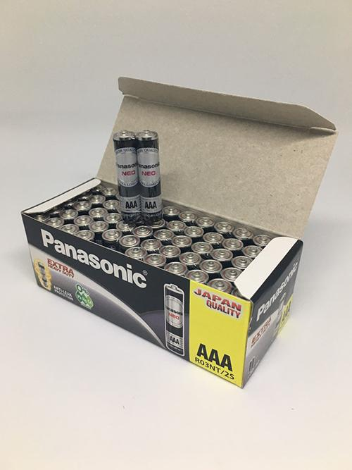 Hộp pin đũa AAA Panasonic neo R03NT-2S màu đen 30 đôi