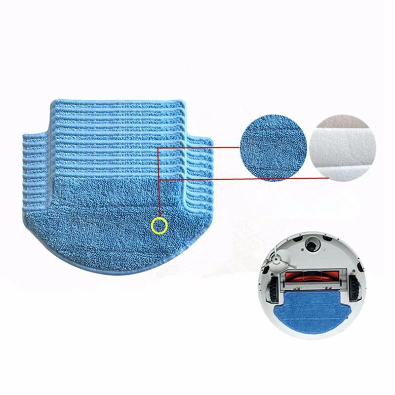 15pcs/lot Original thickness for Xiaomi Mi Robot Vacuum Cleaner mop Cloths Parts kit ( mop Cloths x5 + magic paste x10)