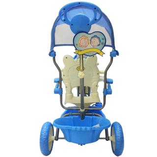 xe đẩy ba bánh cho bé có nhạc có máy che và bánh đúc êm thumbnail