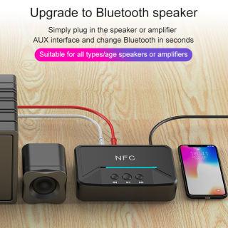 Bộ Thu Âm Thanh BT200 NFC Bluetooth 5.0 Đĩa USB AUX RCA 3.5Mm Bộ Chuyển Đổi Nhạc