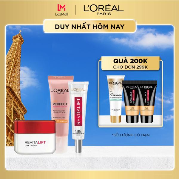 Bộ kem ngày chống lão hóa & chống nắng LOreal Paris