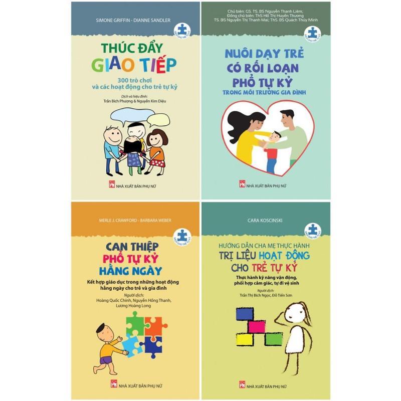 SÁCH - Combo series sách cho trẻ tự kỷ- Đồng hành cùng trẻ tự kỷ (bộ 4 cuốn)