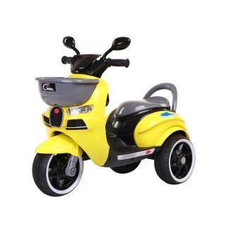 Xe máy điện moto 3 bánh CHIWA 2020 đồ chơi xe điện đạp ga cho bé (Đỏ-Trắng-Vàng) thumbnail