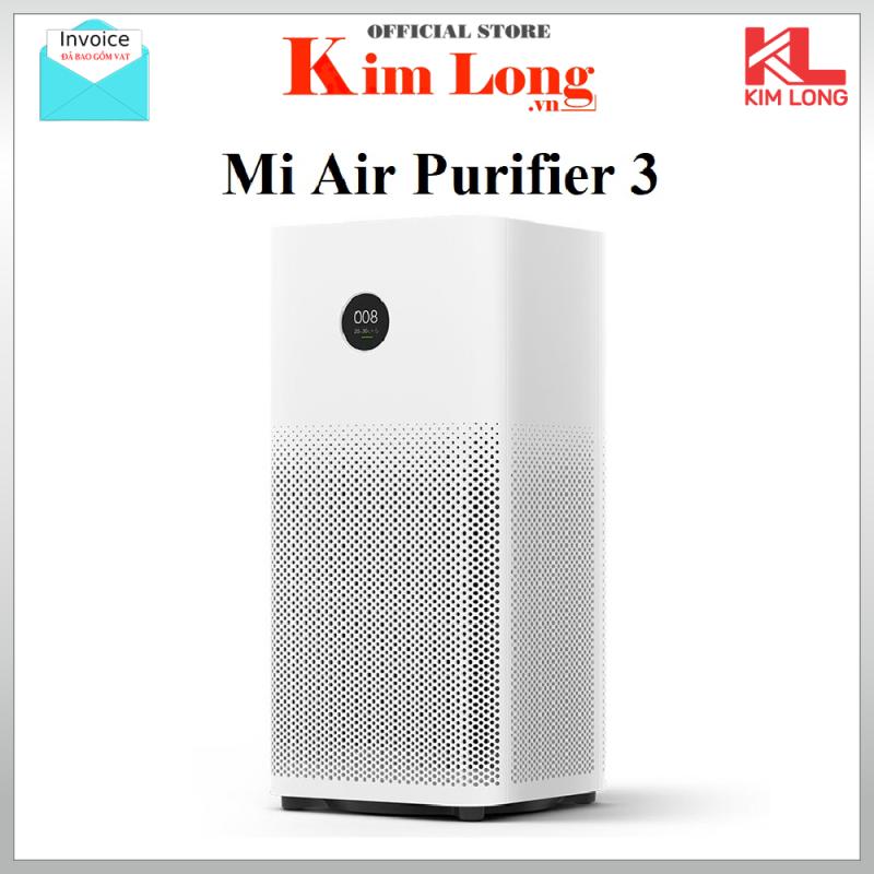 Máy lọc không khí Xiaomi Air Purifier Gen 3   3H lọc siêu bụi mịn 0.3μm gồm hạt PM 25  khử mùi diệt khuẩn công suất 400m3/h - Bảo hành 12 tháng
