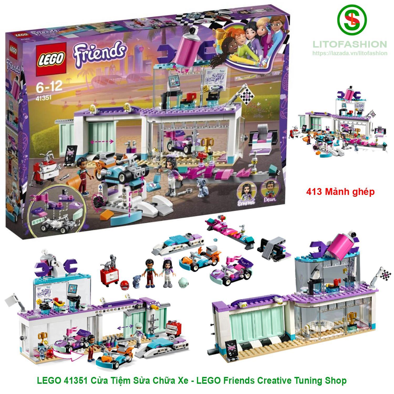 Deal Khuyến Mãi LEGO 41351 Cửa Tiệm Sửa Chữa Xe (413 Mảnh Ghép) - LEGO Friends Creative Tuning Shop