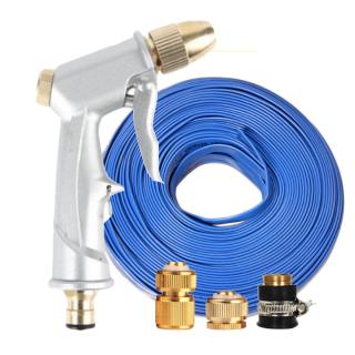 Vòi nước vòi phun nước rửa xe tưới cây tăng áp thông minh + bộ dây bơm nước 5m cao cấp TLG 701621 đầu đồng, cút đồng(xanh dẹt) thumbnail