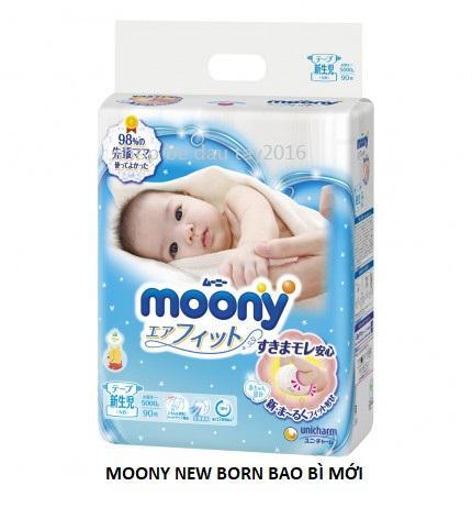 Tã Dán Moony Nhật Size New Born 90 Miếng (dưới 5kg)-SALE 1BỊCH NB 90 Đang Giảm Giá
