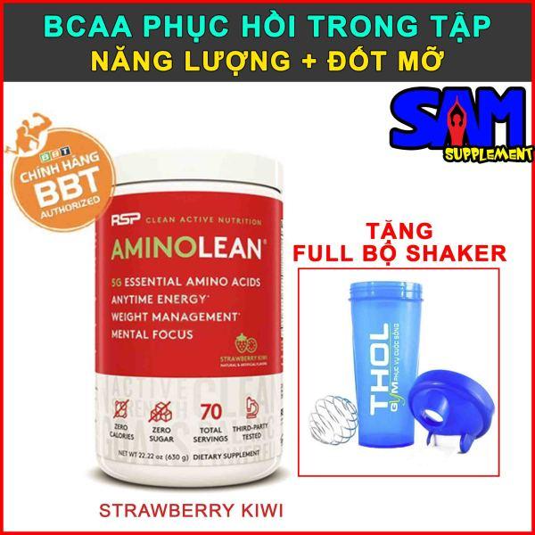 [Chính hãng BBT] RSP AminoLean 70 liều dùng - Đốt mỡ, BCAA trong tập, Đốt mỡ, Tập trung, Tỉnh táo - Tem nhãn chính hãng BBT, THOL- VỊ STRAWBERRY KIWI