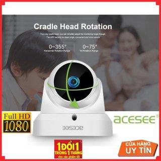 Mắt camera wifi xoay 355 độ trong nhà Acesee AC31 Full hd thumbnail