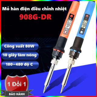 Mỏ hàn cầm tay 908DR - Mỏ hàn điều chỉnh nhiệt độ No 908 80W có màn hình LCD - Mỏ hàn điện mini 908G-DR thumbnail