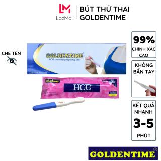 Que thử thai bút thử thai Goldentime test nhanh độ chính xác cao của 5mm 1 bút hộp cho kết quả sau 3-5 phút thumbnail