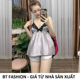 Đồ Bộ Mặc Nhà Vải Phi Bóng Mềm Mại, Mát Mẻ, Thời Trang - BT Fashion (Phi- Ren Lưng 04) thumbnail