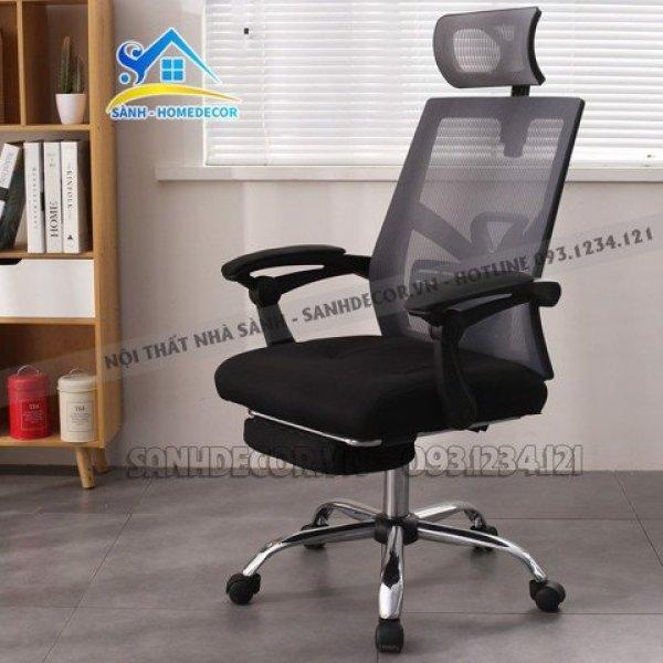Ghế xoay văn phòng thiết kế sang trọng, ghế trưởng phòng/giám đốc cao cấp GTP09 - Made by SÀNH DECOR giá rẻ