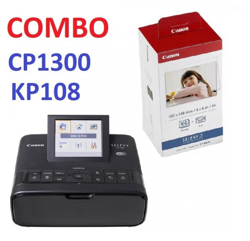 Sản phẩm bán chạy. COMBO MÁY IN ẢNH CANON CP1300 VÀ GIẤY IN KP-108