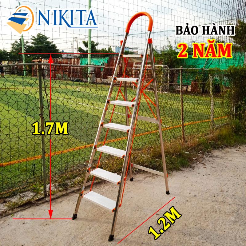 THANG GHẾ TAY VỊN INOX 7 BẬC 1.7m NIKITA-NHẬT BẢN NKT-IN07