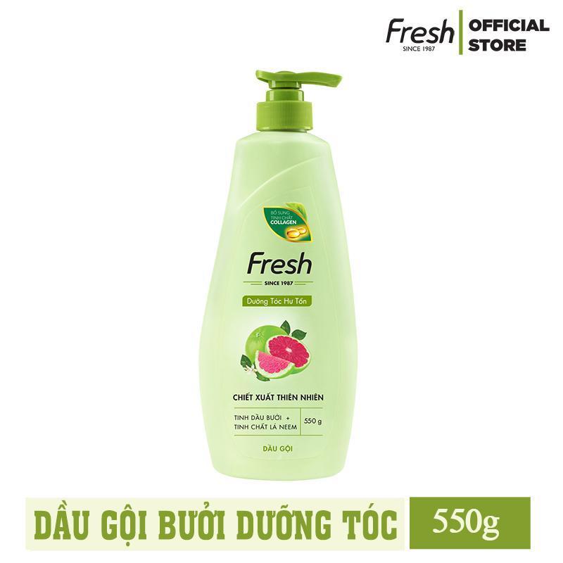 Dầu Gội Dưỡng Tóc Tinh Dầu Bưởi Bổ Sung Tinh Chất Collagen Fresh 550g