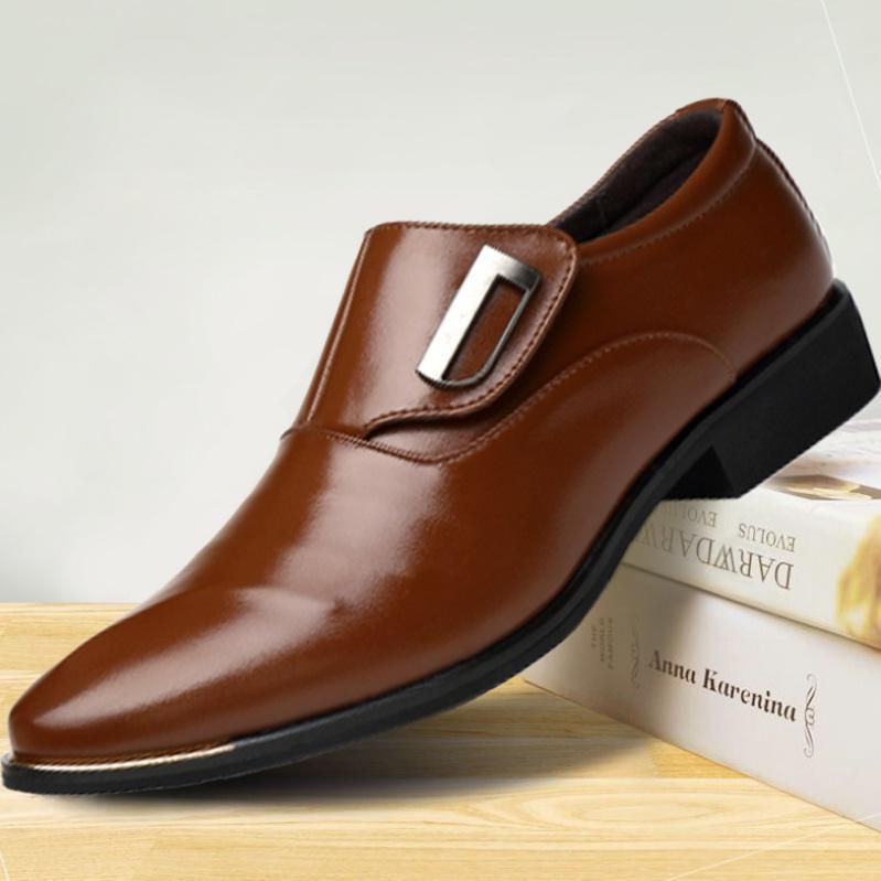 Giày Tây Nam Công Sở Màu Đen Và Nâu Thanh Lich SBC - S87 Giá Rất Tiết Kiệm