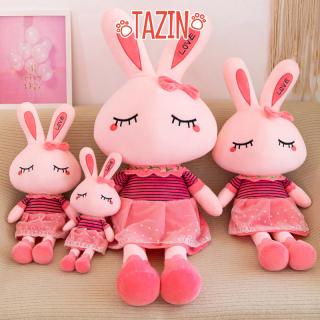 Thỏ nhồi bông màu hồng, thiết kế kích thước 45cm. Chất liệu cao cấp, mềm mịn, không xù lông, phù hợp là thú ôm cho trẻ em hoặc làm đồ trang trí thumbnail