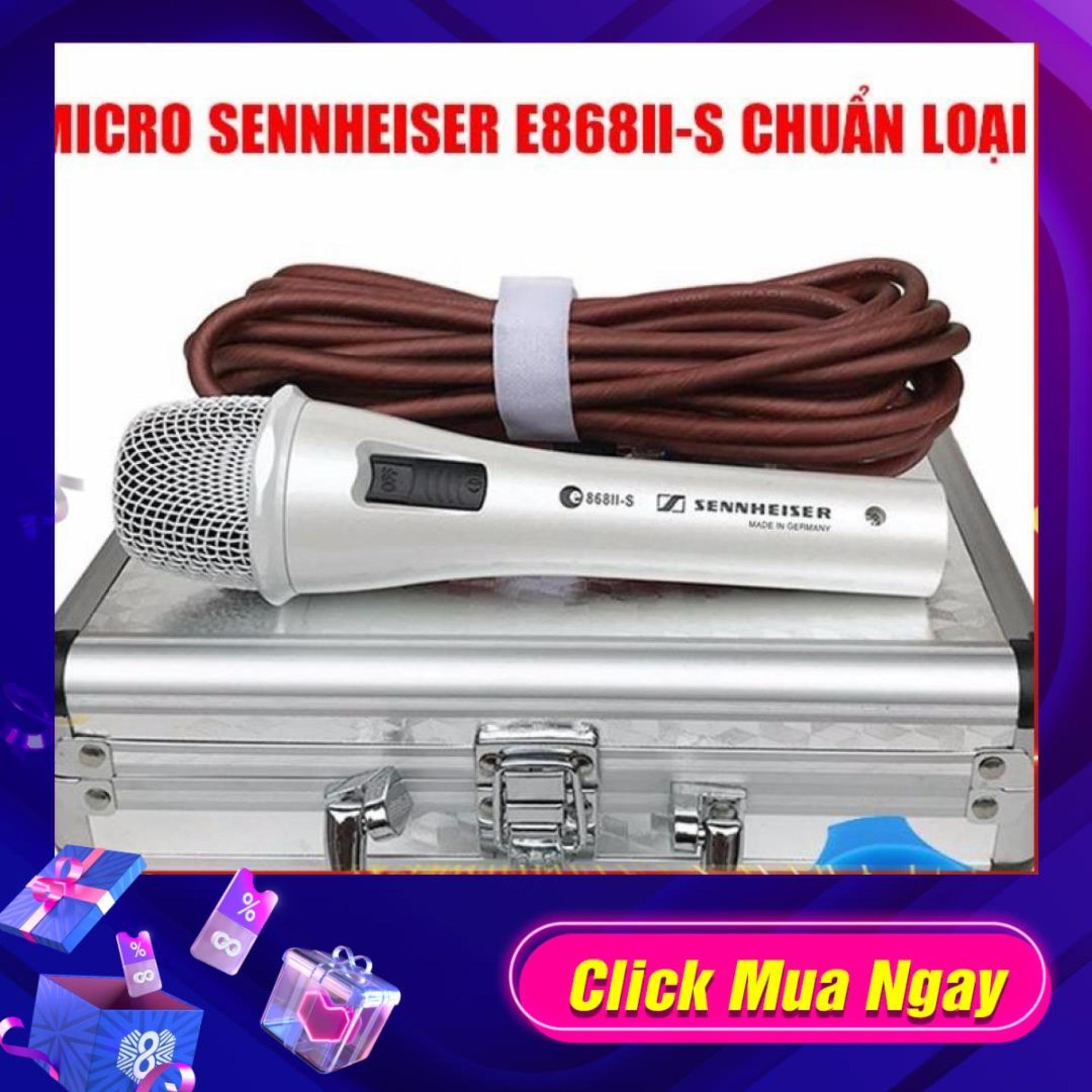 Không Nên Bỏ Lỡ Giá Sốc với Micro Có Dây Hát Karaoke Sennheiser E868II-S Cao Cấp NEW 2018 (Trắng)
