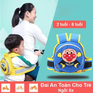 Đai an toàn cho bé ngồi xe máy, xe đạp - Địu em bé - Địu an toàn (Hàng nhập khẩu 100% chất lượng cao) thumbnail