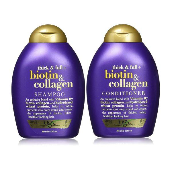 Combo bộ dầu gội và xả Biotin & Collagen OGX 385ml