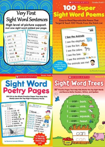 Mua Sách - Sight word 4 cuốn (Sightword - 2q có file nghe)