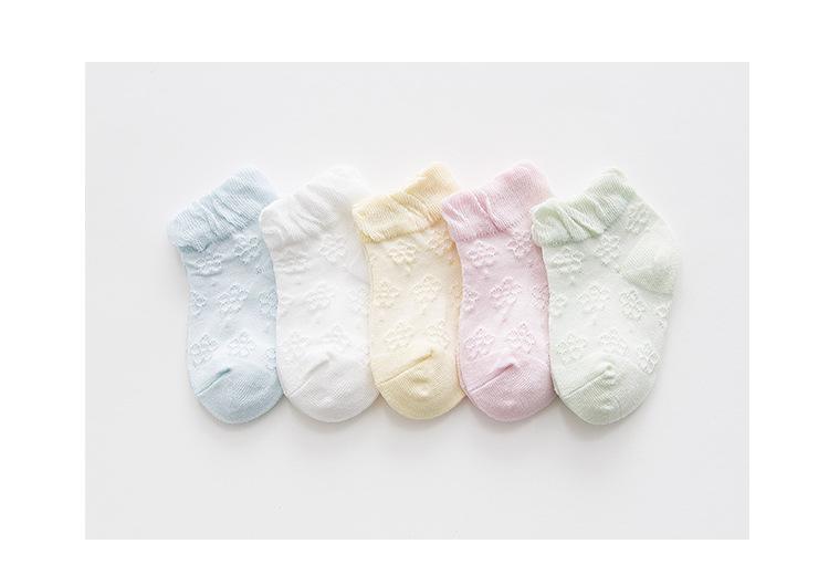 Giá bán Set 5 đôi tất lưới mẫu mới cho bé trai và bé gái từ 1-3 tuổi(hình tự chụp)