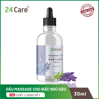 Dầu massage tinh dầu cho giấc ngủ ngon 24care - dành cho nam và nữ 30ml thumbnail