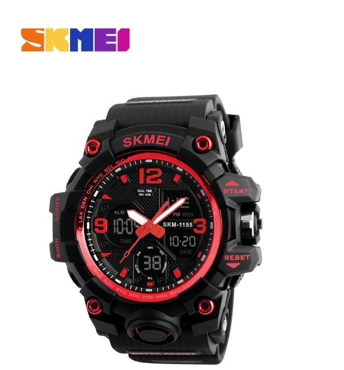 Nơi bán Đồng hồ Thể thao nam giá rẻ- Đồng hồ nam điện tử thể thao SKMEI 1155B - Chống nước, chống Shock