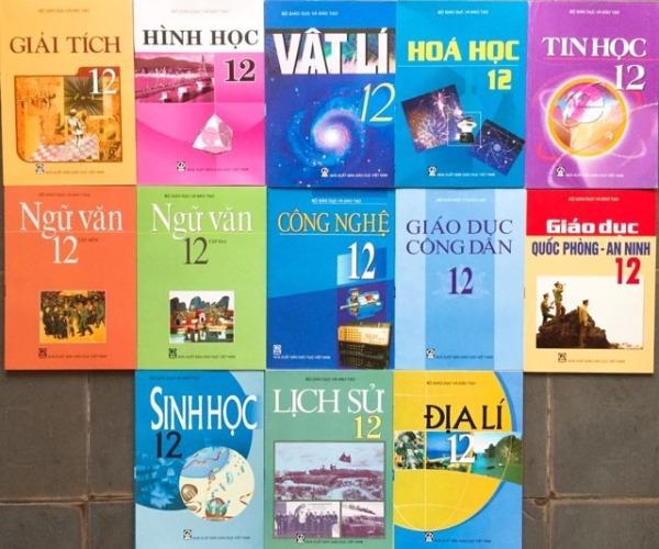 Bộ sách giáo khoa lớp 12 + Sách bài tập toán lý hóa lớp 12 ( gồm 17 quyển) - không sách tiếng anh