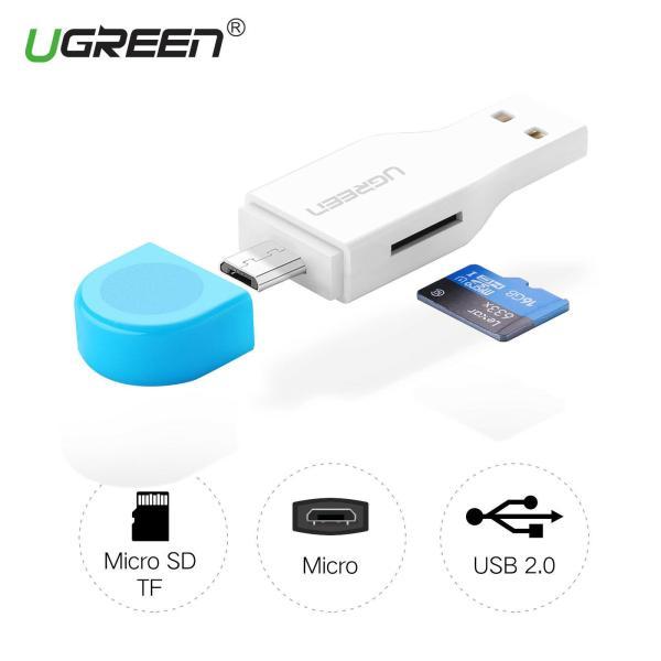 Đầu Đọc Thẻ Nhớ 2 In 1 UGREEN 30358 Hỗ Trợ OTG Và USB TF / Micro-SD Card