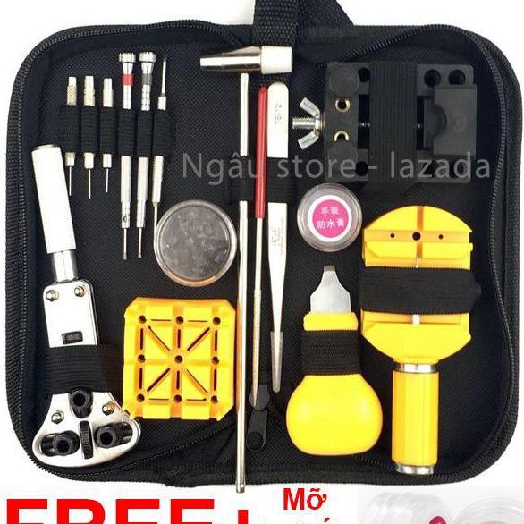 Bộ dụng cụ đồ nghề tua vít phụ kiện sửa chữa và tháo lắp chơi đồng hồ (Đen)