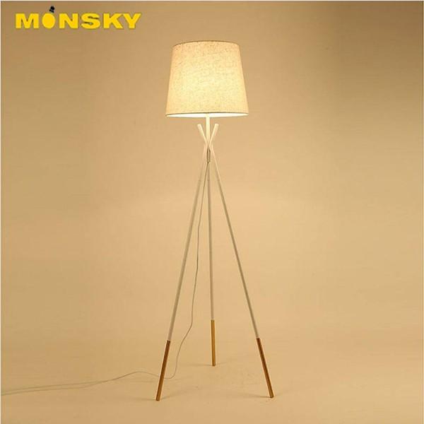 Bảng giá Đèn đứng MONSKY HUMANI để sàn kêt hợp sofa phòng khách, phòng ngủ hiện đại - Tặng kèm bóng LED cao cấp.