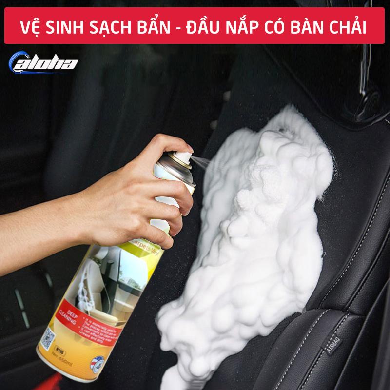 Dung dịch tạo bọt xịt rửa da ghế, giặt đệm, làm sạch đồ da, bảo dưỡng da ghế xe hơi, ô tô, xe tải, xe khách, ghế văn phòng, sofa da, nội thất dung tích 680ml-C089-DBGD