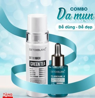 Combo Serum Tri Mụn Và Mặt Nạ Detox BlanC thumbnail